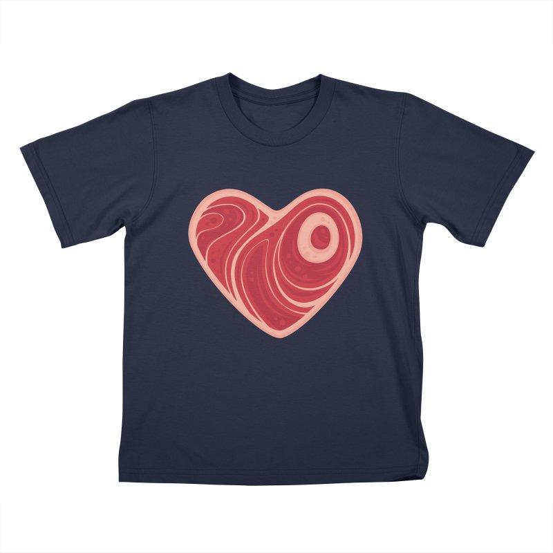 Meat Heart Kids T-shirt by Fizzgig's Artist Shop