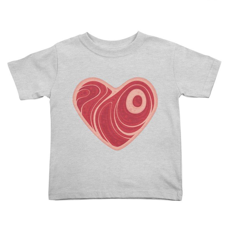 Meat Heart Kids Toddler T-Shirt by Fizzgig's Artist Shop