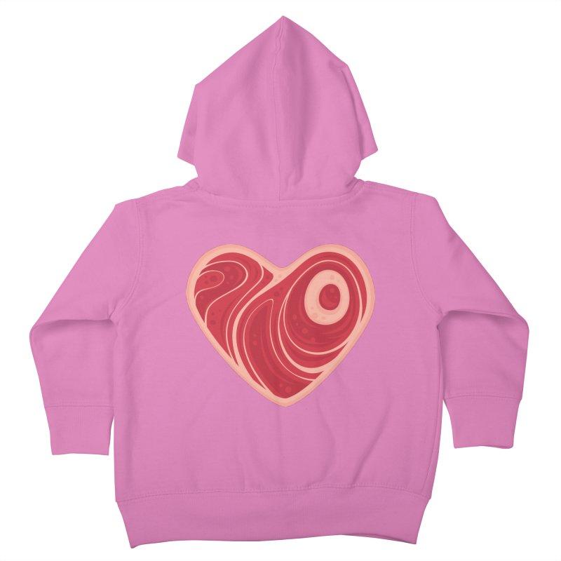 Meat Heart Kids Toddler Zip-Up Hoody by Fizzgig's Artist Shop