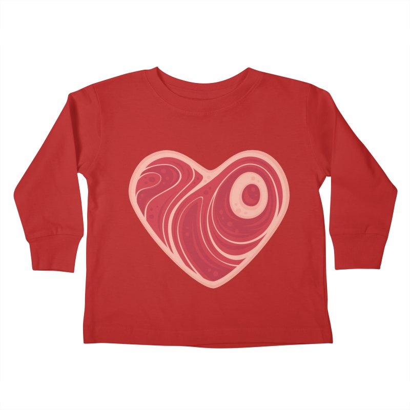 Meat Heart Kids Toddler Longsleeve T-Shirt by Fizzgig's Artist Shop