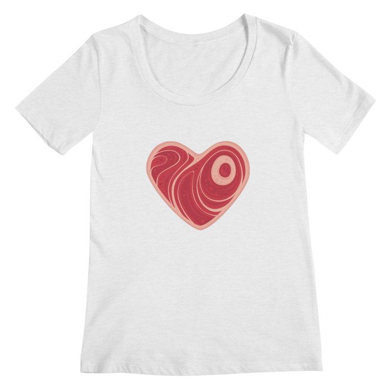 Meat Heart Women's Scoopneck by Fizzgig's Artist Shop