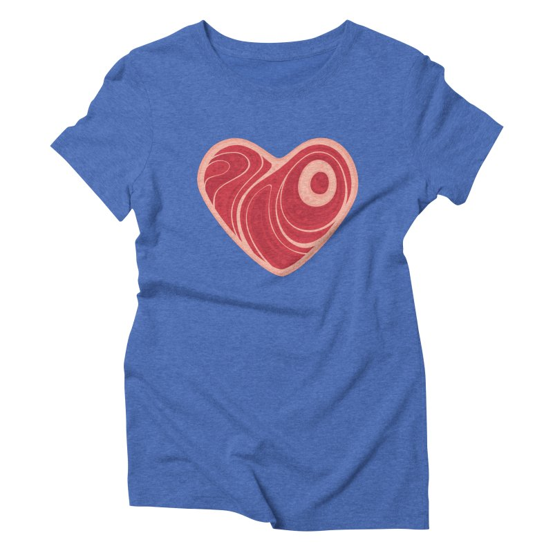 Meat Heart Women's Triblend T-shirt by Fizzgig's Artist Shop