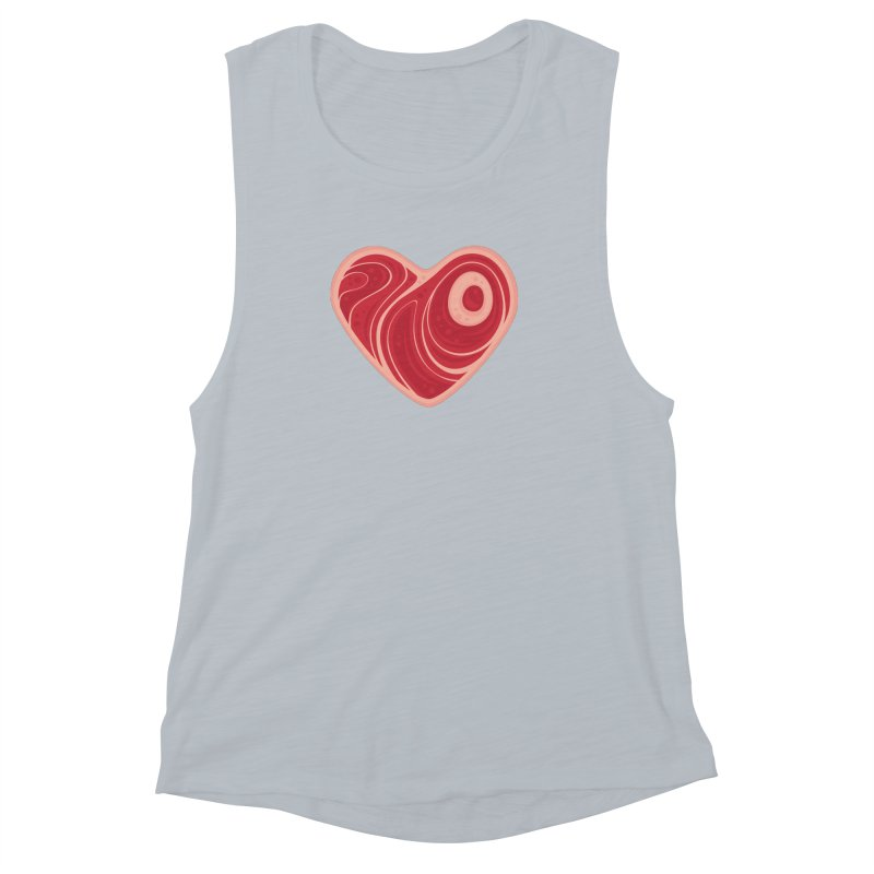 Meat Heart Women's Tank by Fizzgig's Artist Shop