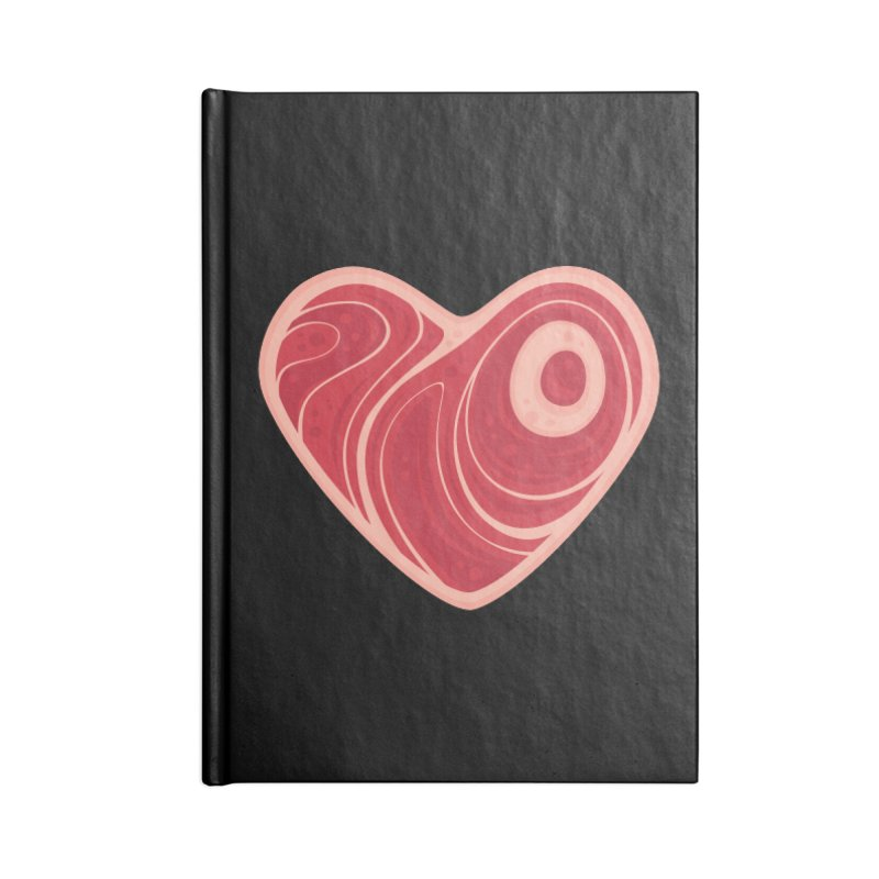Meat Heart Accessories Notebook by Fizzgig's Artist Shop