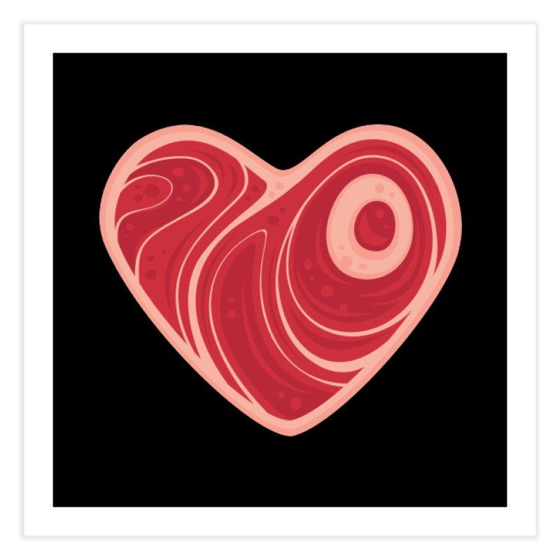 Meat Heart Home Fine Art Print by Fizzgig's Artist Shop
