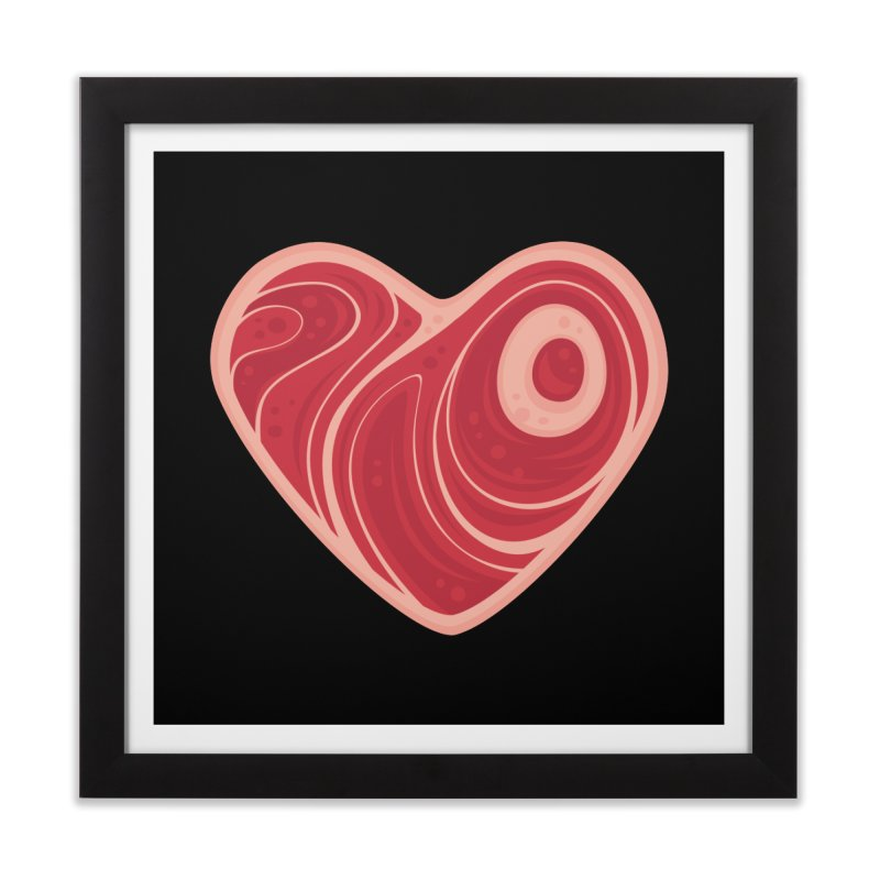 Meat Heart Home Framed Fine Art Print by Fizzgig's Artist Shop