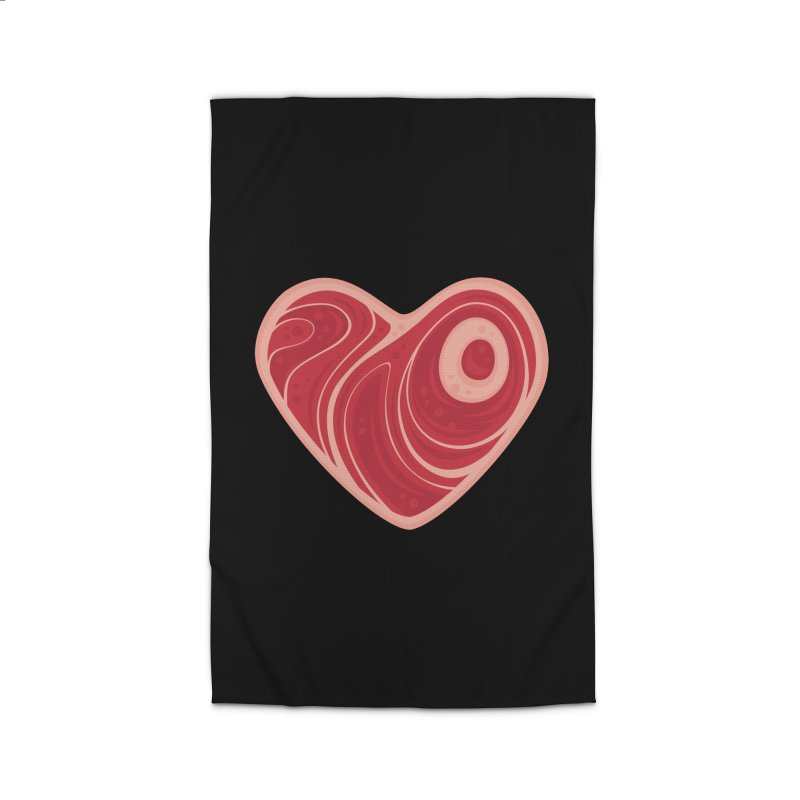 Meat Heart Home Rug by Fizzgig's Artist Shop