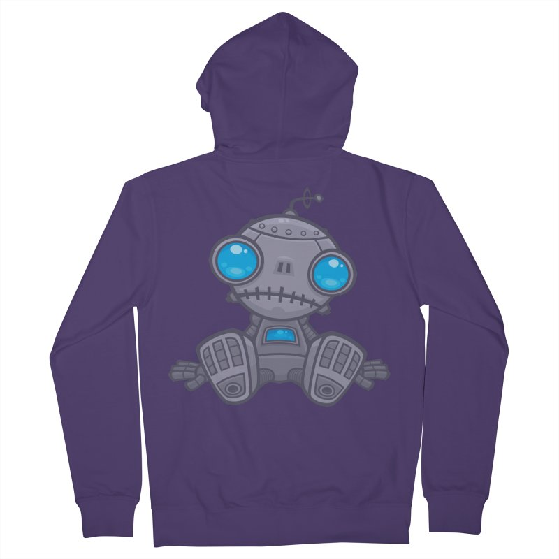 Sad Robot Women's Zip-Up Hoody by Fizzgig's Artist Shop