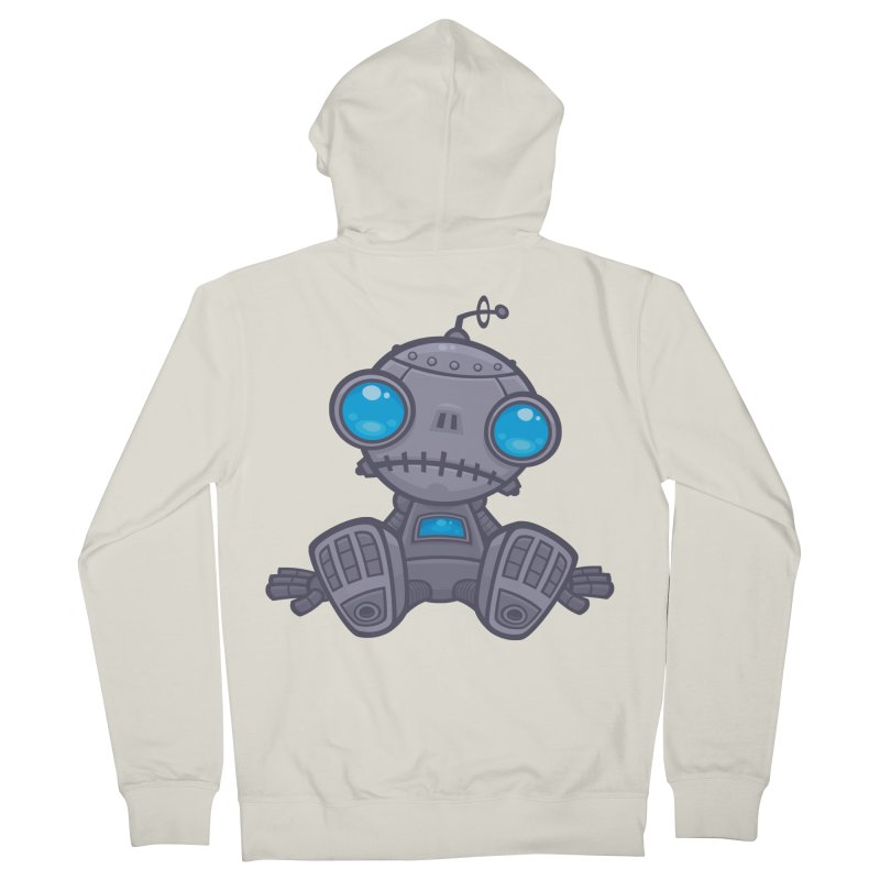 Sad Robot Men's Zip-Up Hoody by Fizzgig's Artist Shop