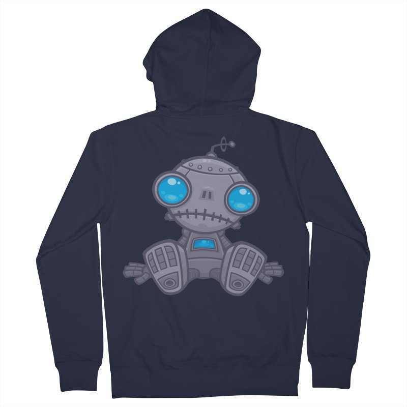 Sad Robot Men's Zip-Up Hoody by Fizzgig's Artist Shop
