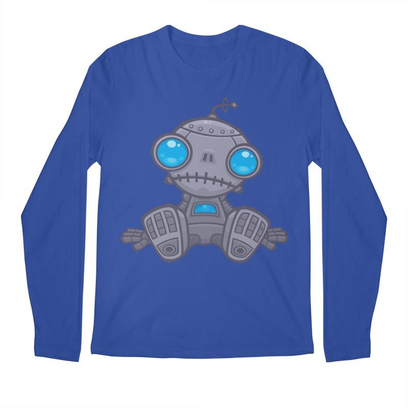 Sad Robot Men's Longsleeve T-Shirt by Fizzgig's Artist Shop
