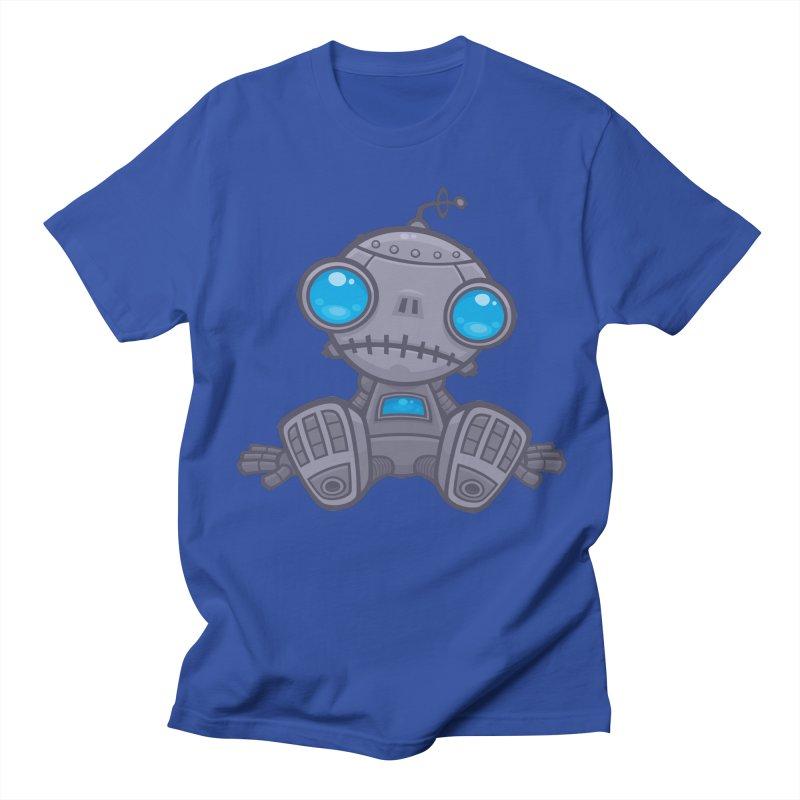 Sad Robot Men's T-shirt by Fizzgig's Artist Shop