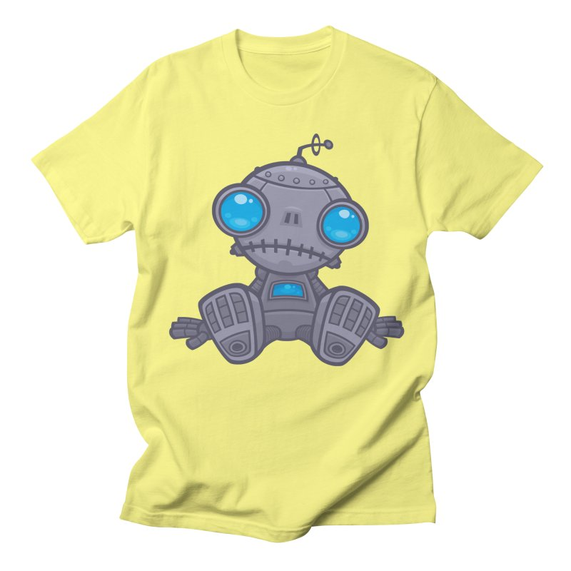 Sad Robot Men's T-shirt by Fizzgig's Artist Shop