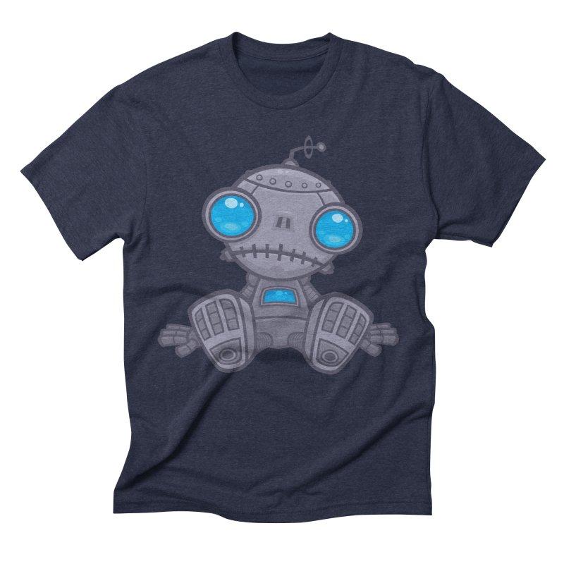 Sad Robot Men's Triblend T-shirt by Fizzgig's Artist Shop