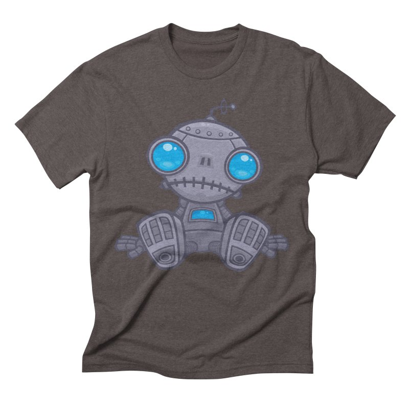 Sad Robot Men's Triblend T-Shirt by Fizzgig's Artist Shop