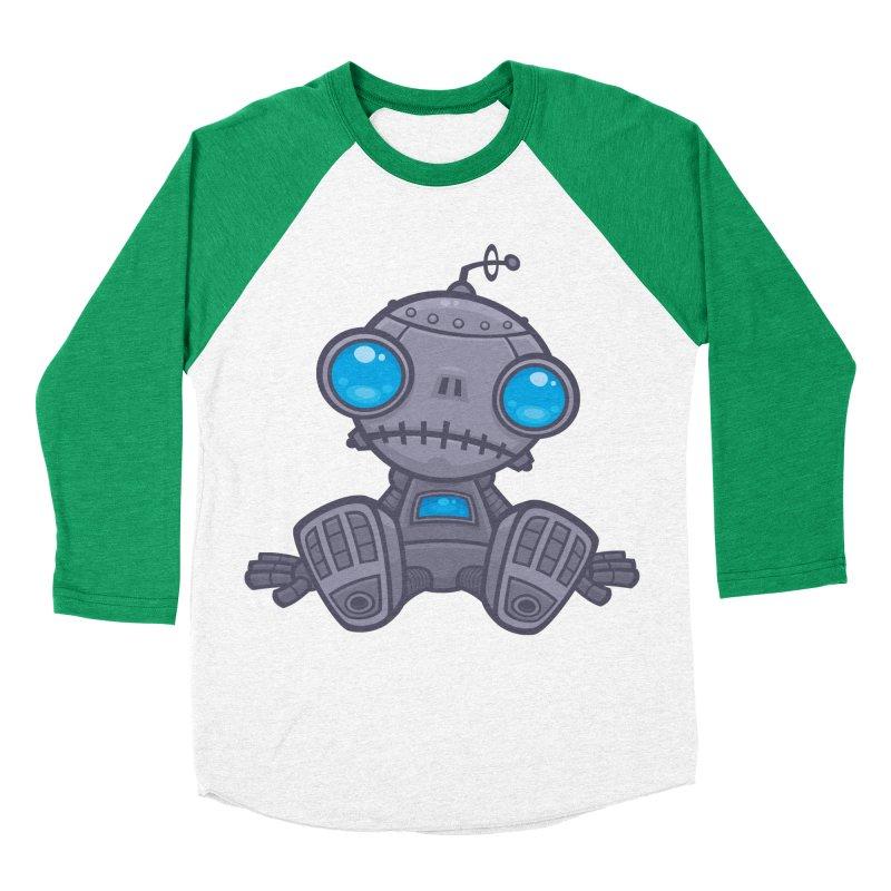 Sad Robot Women's Baseball Triblend T-Shirt by Fizzgig's Artist Shop