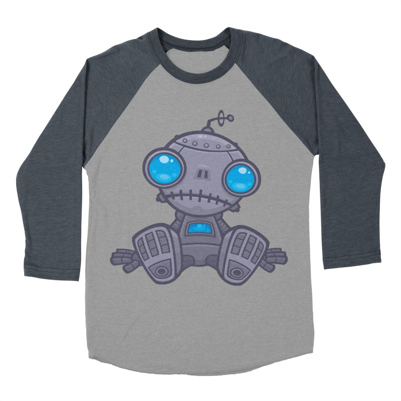 Sad Robot Women's Baseball Triblend T-Shirt by Fizzgig's Artist Shop
