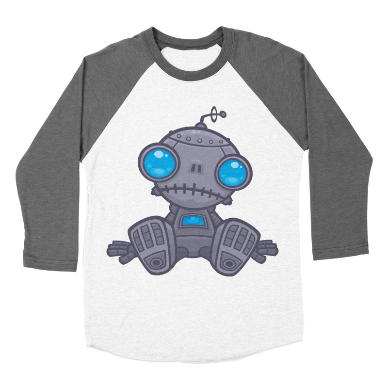 Sad Robot Men's Baseball Triblend T-Shirt by Fizzgig's Artist Shop