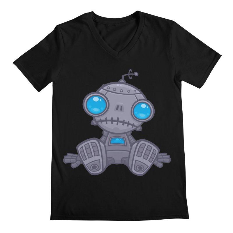 Sad Robot Men's V-Neck by Fizzgig's Artist Shop