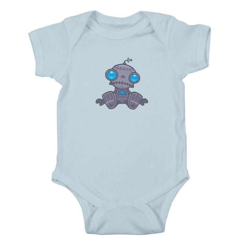 Sad Robot Kids Baby Bodysuit by Fizzgig's Artist Shop