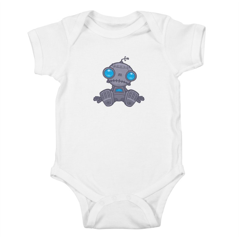Sad Robot Kids Baby Bodysuit by Fizzgig's Artist Shop