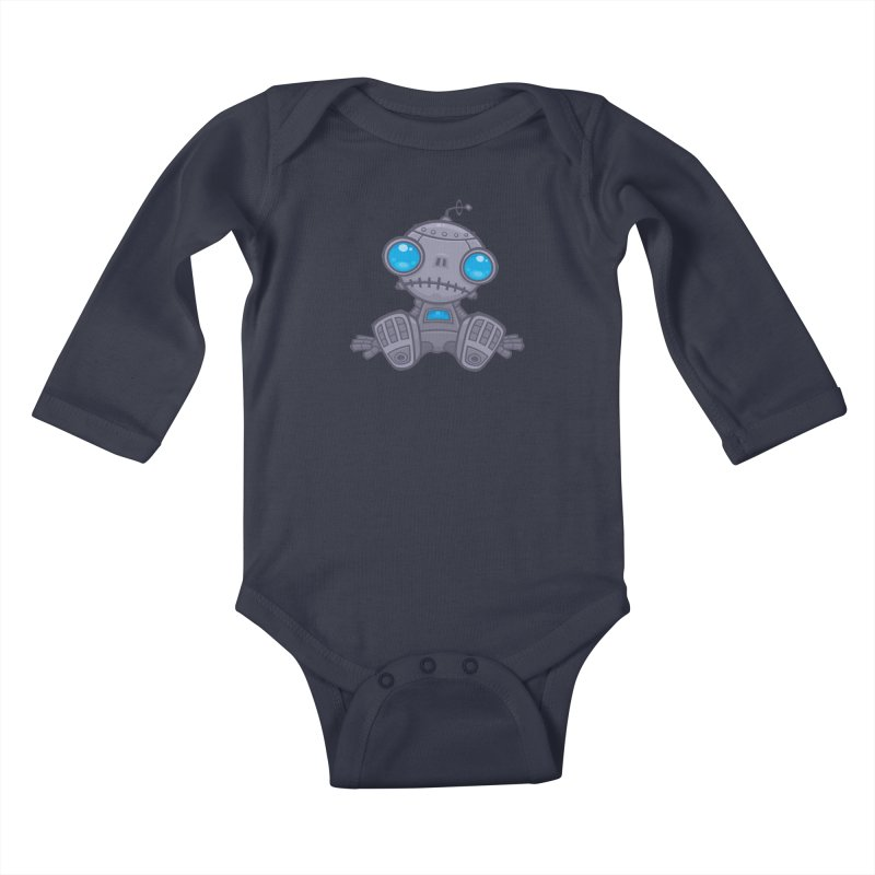 Sad Robot Kids Baby Longsleeve Bodysuit by Fizzgig's Artist Shop