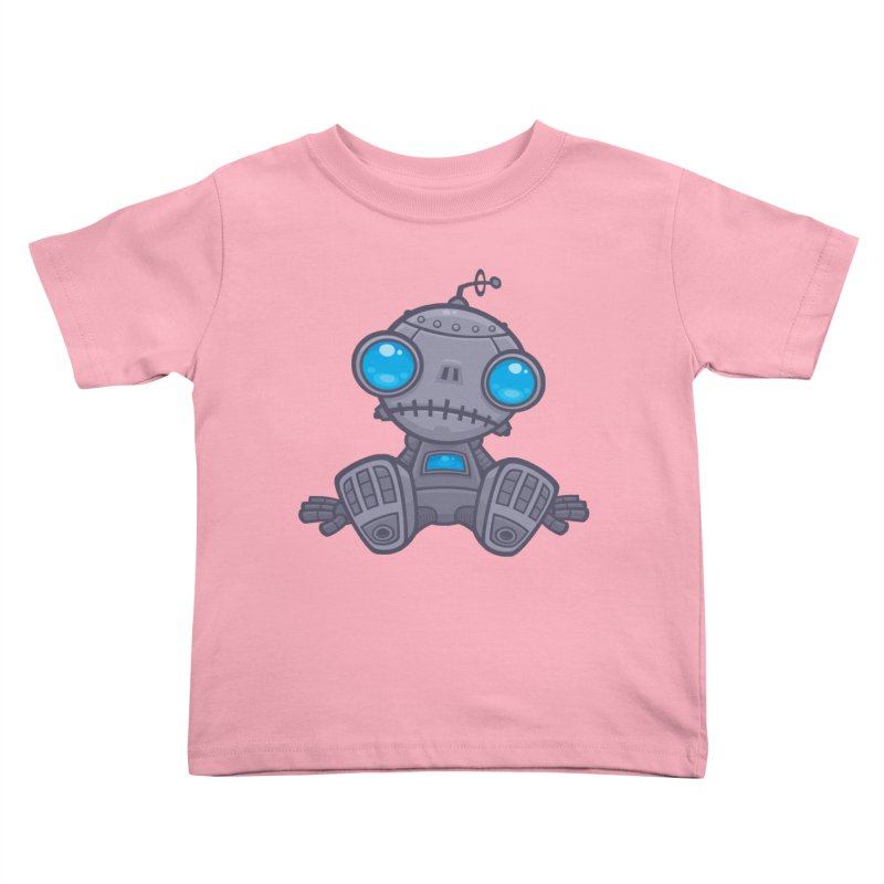 Sad Robot Kids Toddler T-Shirt by Fizzgig's Artist Shop