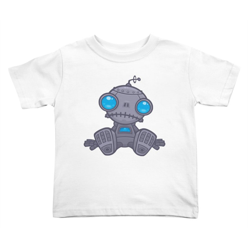 Sad Robot Kids Toddler T-Shirt by Fizzgig's Artist Shop