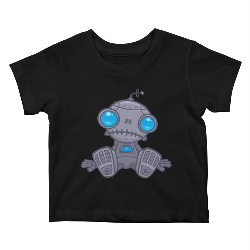 Sad Robot Kids Baby T-Shirt by Fizzgig's Artist Shop