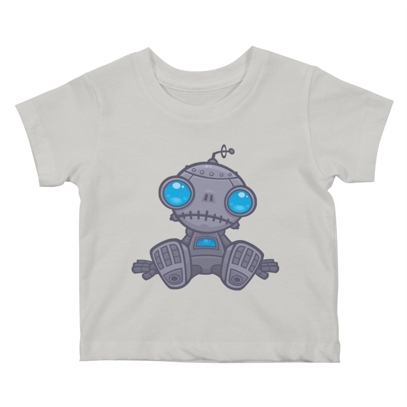 Sad Robot Kids Baby T-Shirt by Fizzgig's Artist Shop
