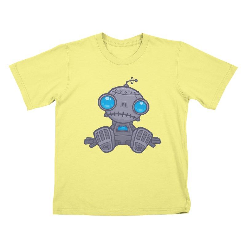 Sad Robot Kids T-shirt by Fizzgig's Artist Shop