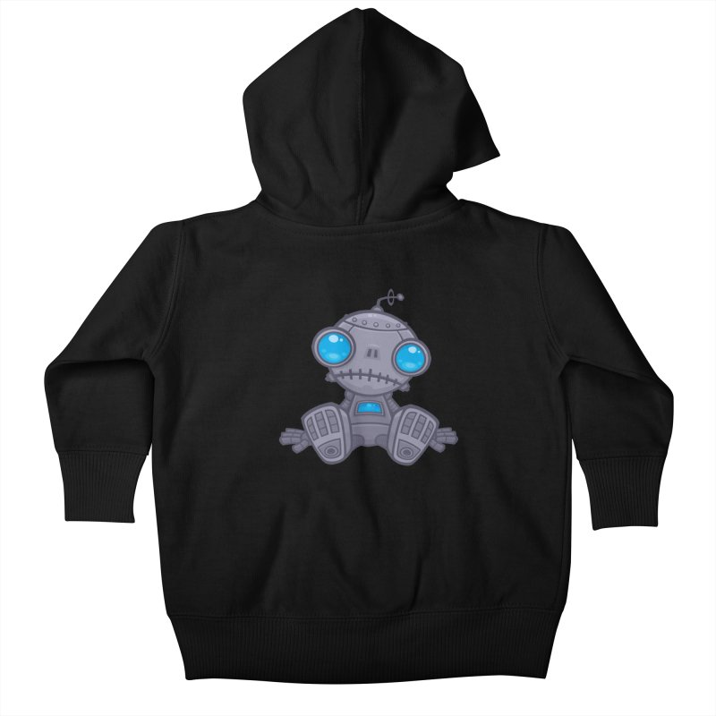 Sad Robot Kids Baby Zip-Up Hoody by Fizzgig's Artist Shop