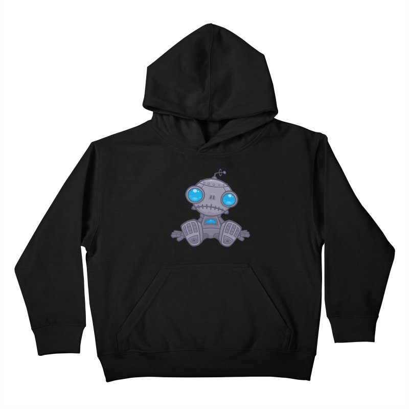 Sad Robot Kids Pullover Hoody by Fizzgig's Artist Shop