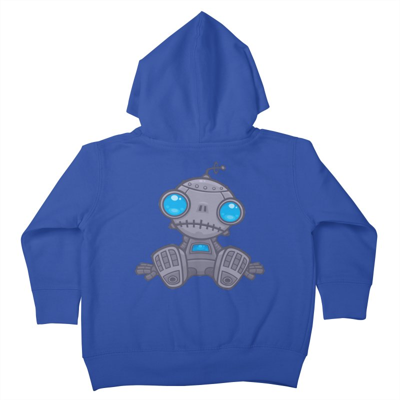 Sad Robot Kids Toddler Zip-Up Hoody by Fizzgig's Artist Shop