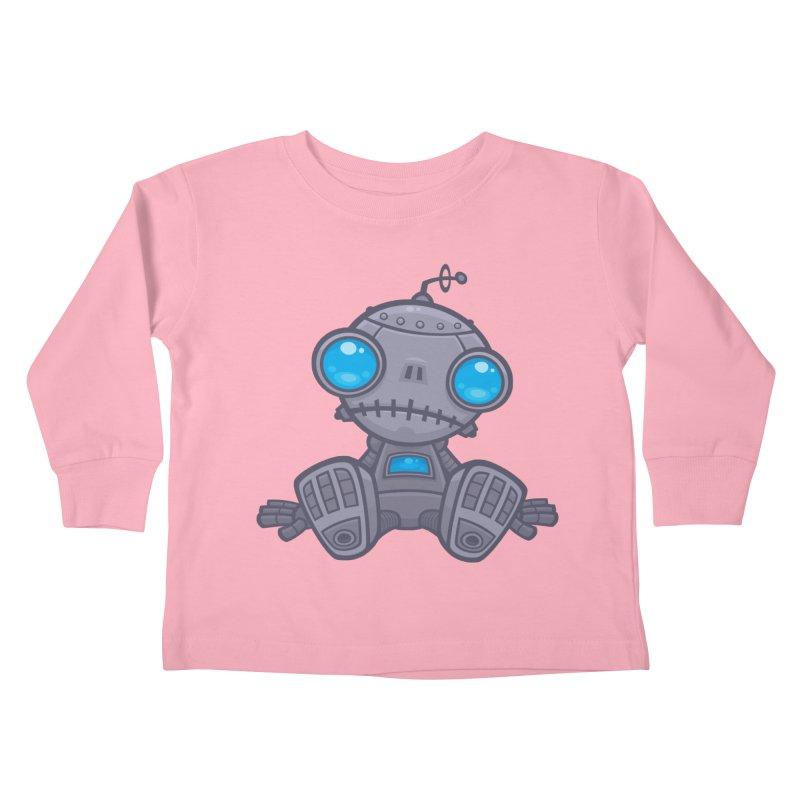 Sad Robot Kids Toddler Longsleeve T-Shirt by Fizzgig's Artist Shop