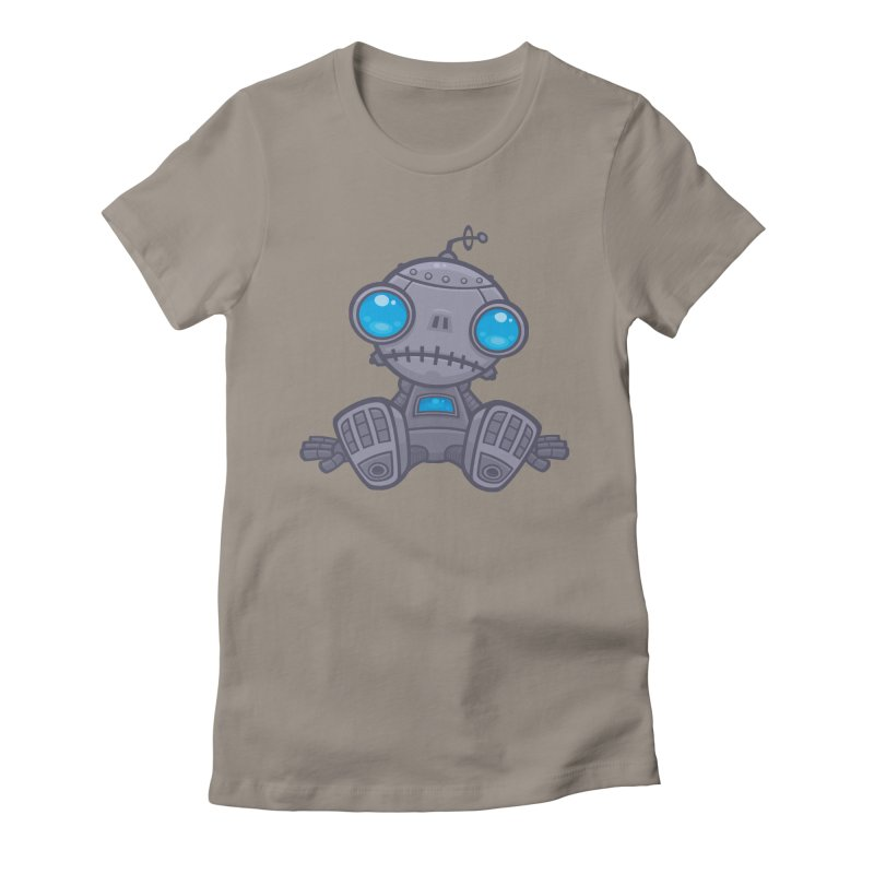 Sad Robot Women's Fitted T-Shirt by Fizzgig's Artist Shop