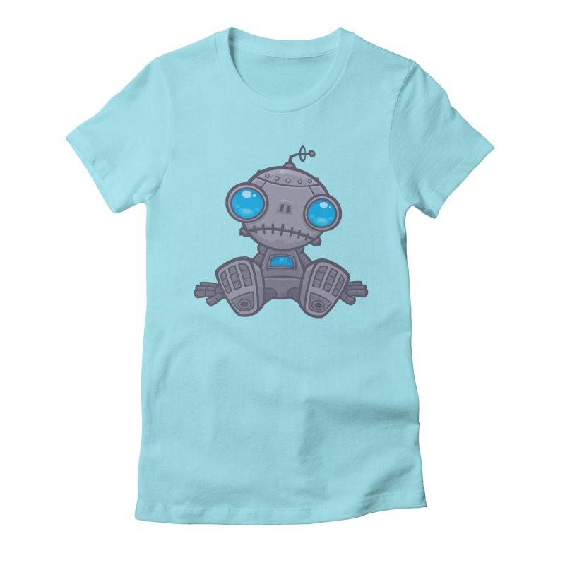 Sad Robot Women's Fitted T-Shirt by Fizzgig's Artist Shop