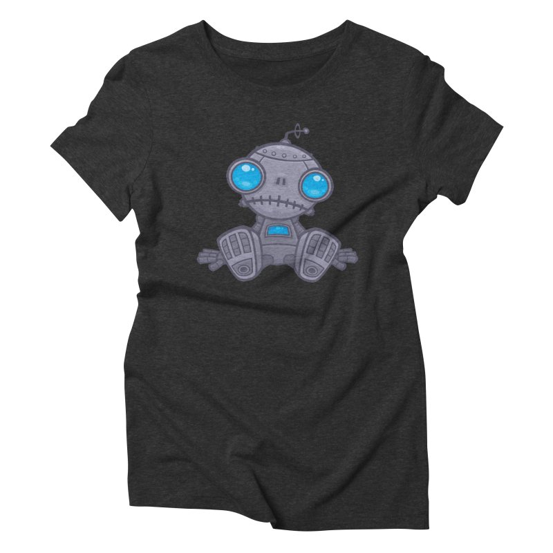 Sad Robot Women's Triblend T-shirt by Fizzgig's Artist Shop