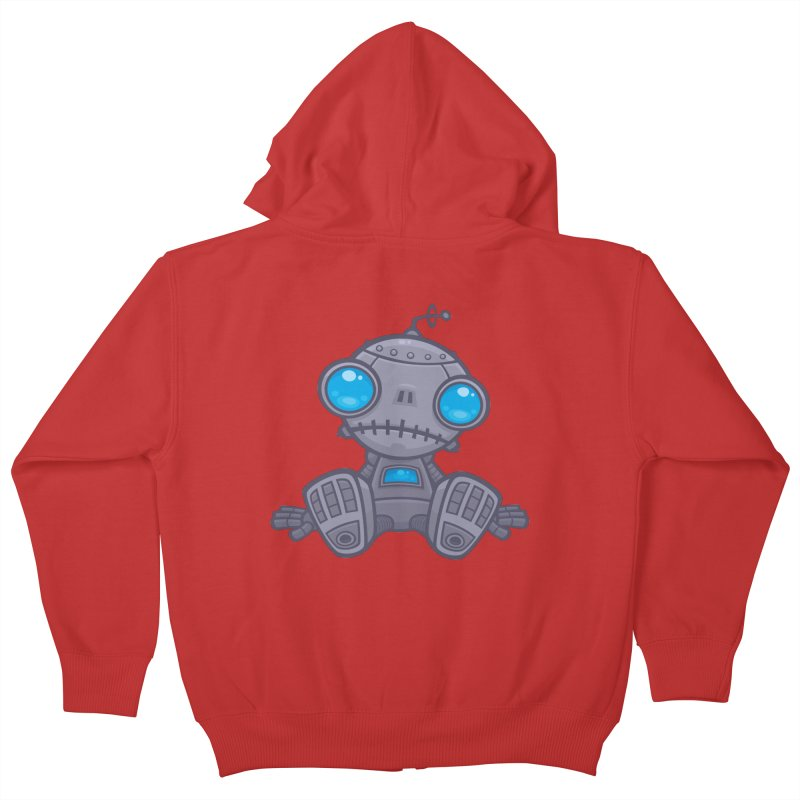 Sad Robot Kids Zip-Up Hoody by Fizzgig's Artist Shop
