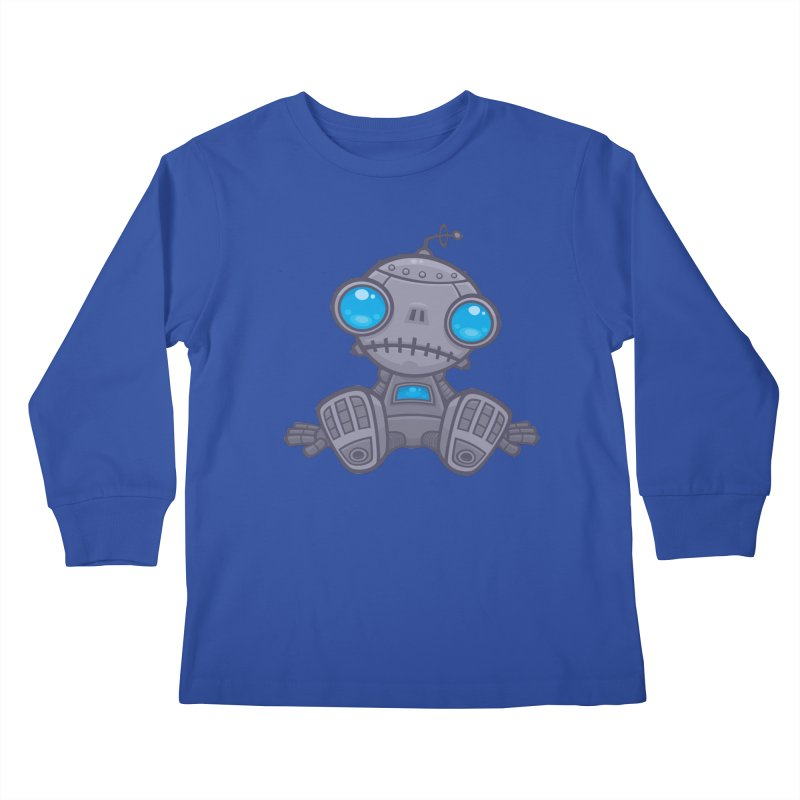 Sad Robot Kids Longsleeve T-Shirt by Fizzgig's Artist Shop