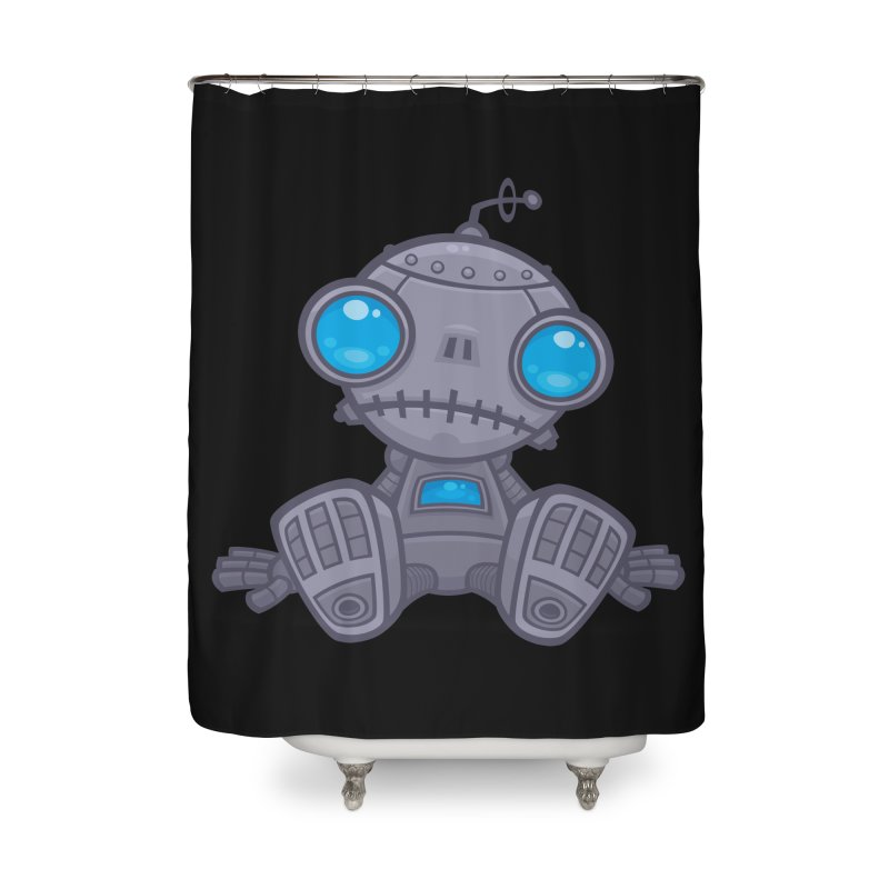 Sad Robot Home Shower Curtain by Fizzgig's Artist Shop