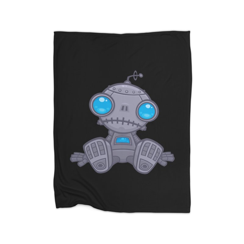 Sad Robot Home Blanket by Fizzgig's Artist Shop