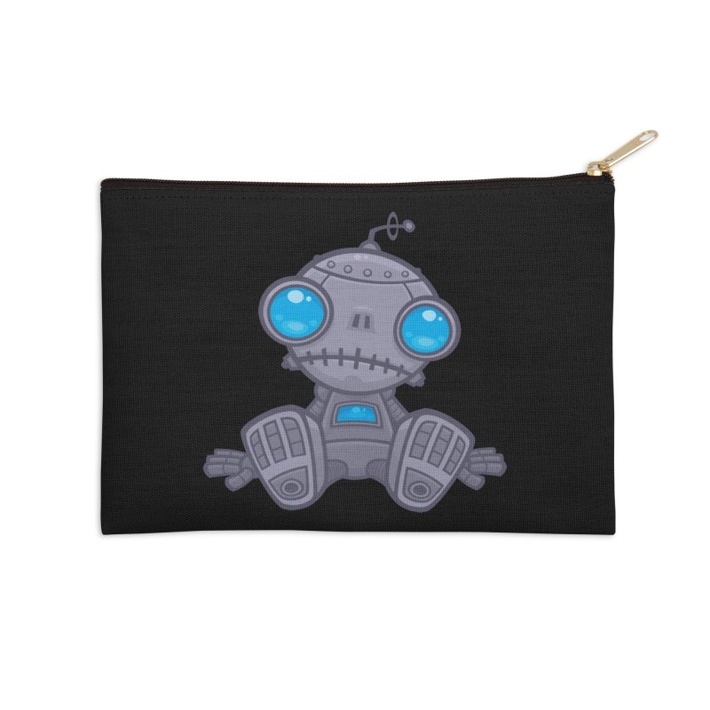 Sad Robot Accessories Zip Pouch by Fizzgig's Artist Shop