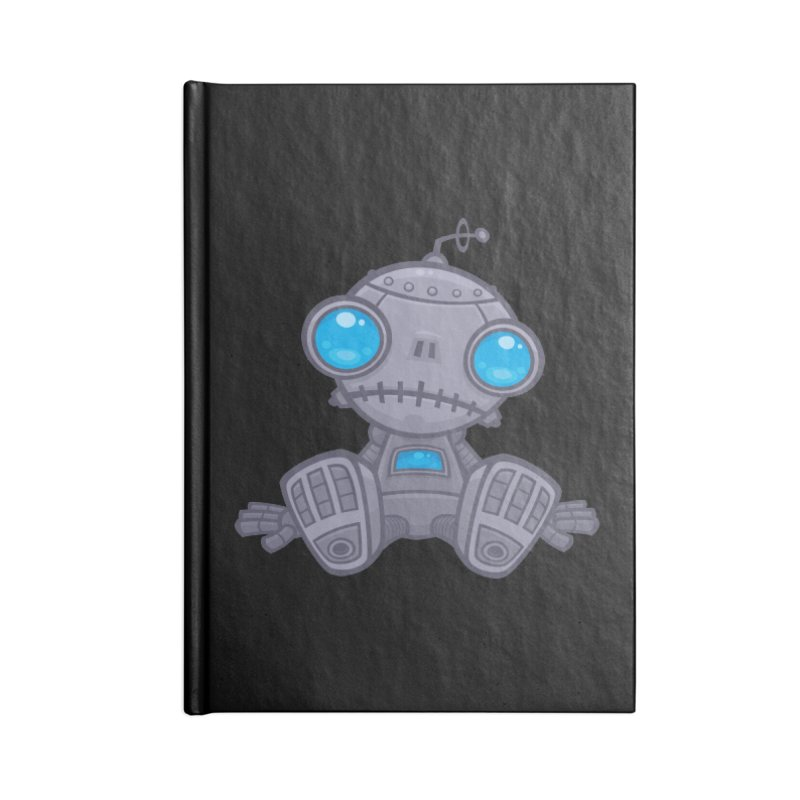 Sad Robot Accessories Notebook by Fizzgig's Artist Shop