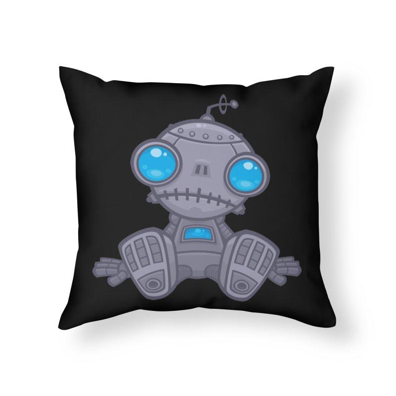 Sad Robot Home Throw Pillow by Fizzgig's Artist Shop