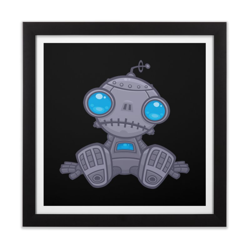 Sad Robot Home Framed Fine Art Print by Fizzgig's Artist Shop