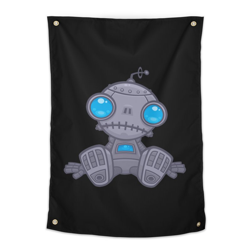 Sad Robot Home Tapestry by Fizzgig's Artist Shop