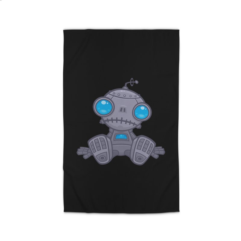 Sad Robot Home Rug by Fizzgig's Artist Shop