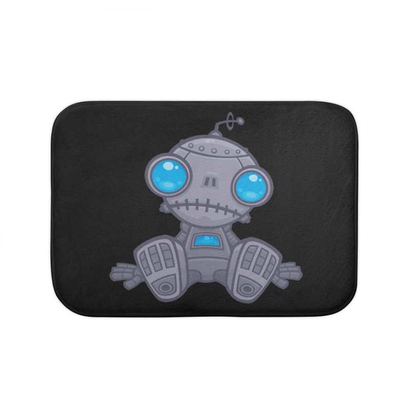 Sad Robot Home Bath Mat by Fizzgig's Artist Shop