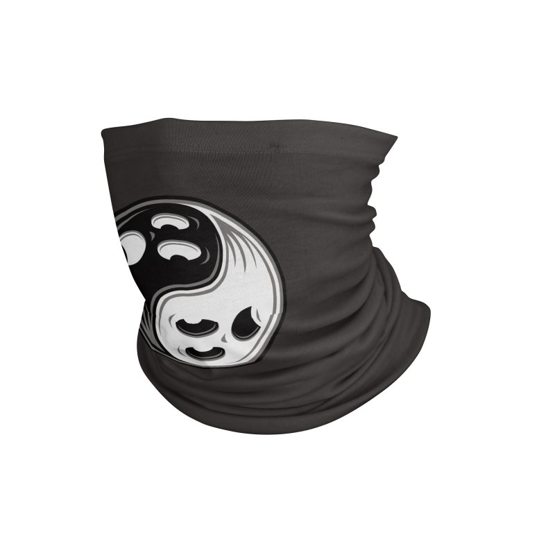 Ghost Yin Yang Black and White Accessories Neck Gaiter by Fizzgig's Artist Shop